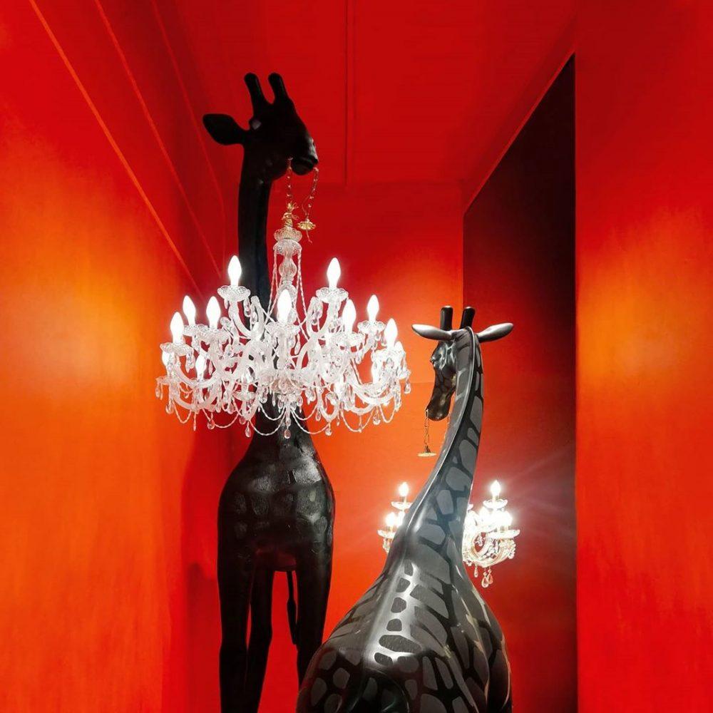 Qeeboo,動物燈, 動物燈飾, 造型燈,義大利品牌,造型椅,藝術裝置,室內設計,空間佈置,傢俱選物,台中,Viithe,樂闊, Qeeboo燈, 長頸鹿立燈, 長頸鹿造型燈