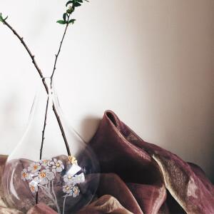 佈置品,花器,花瓶,手工花瓶,口吹玻璃,軟裝佈置,陳列,進口花瓶,擺飾品,金色花瓶,設計品,乾燥花,永生花,鮮花