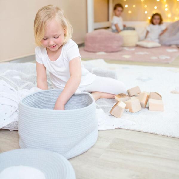 LC, Lorena Canals, 小孩房佈置, 小孩房收納籃, 玩具收納籃, 嬰兒房收納籃, 夢幻收納籃, 收納籃, 童趣收納籃, 進口收納籃, 馬卡龍收納籃, 馬卡龍色收納籃