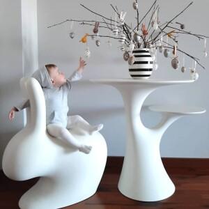 qeeboo, 椅子,兔子樹造型邊桌,義大利品牌,造型椅,藝術裝置,室內設計,空間佈置,傢俱選物,台中,Viithe,樂闊, Qeeboo椅子, 義大利進口邊桌