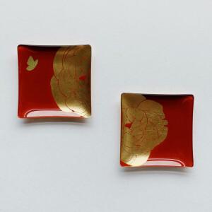 WEN PIIM, 餐具, 置物盤, 金箔餐具, 金箔餐盤, 金箔禮物, 盤子, 手工藝品盤, 職人手作, 小方器皿