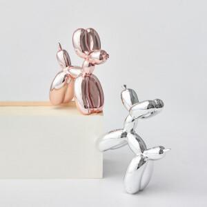 氣球狗藝術品, Balloon Dog, 氣球狗, Jeff Koons, 藝術雕塑品, 閃光氣球狗, , pop art, 波普藝術, 居家擺飾品, 軟裝佈置品