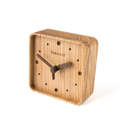 Funwood, 實木方形時鐘, 桌上型時鐘