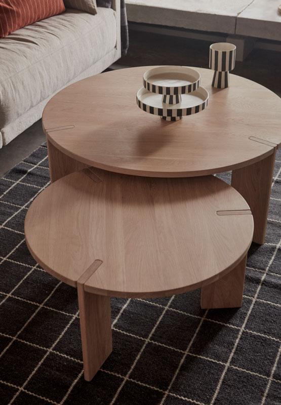 OYOY, 茶几, 橡木桌, 橡木茶几, 咖啡桌, 橡木咖啡桌, 小圓桌, 小圓矮桌, 木製小圓桌, 木頭圓桌, 木頭茶几,