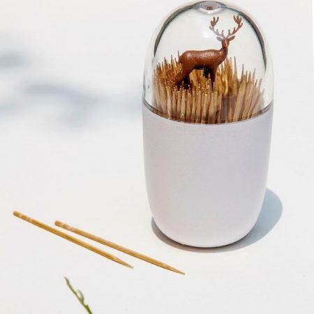 QUALY,牙籤罐,牙籤收納罐,造型收納罐,收納罐,小收納罐,棉花棒罐,