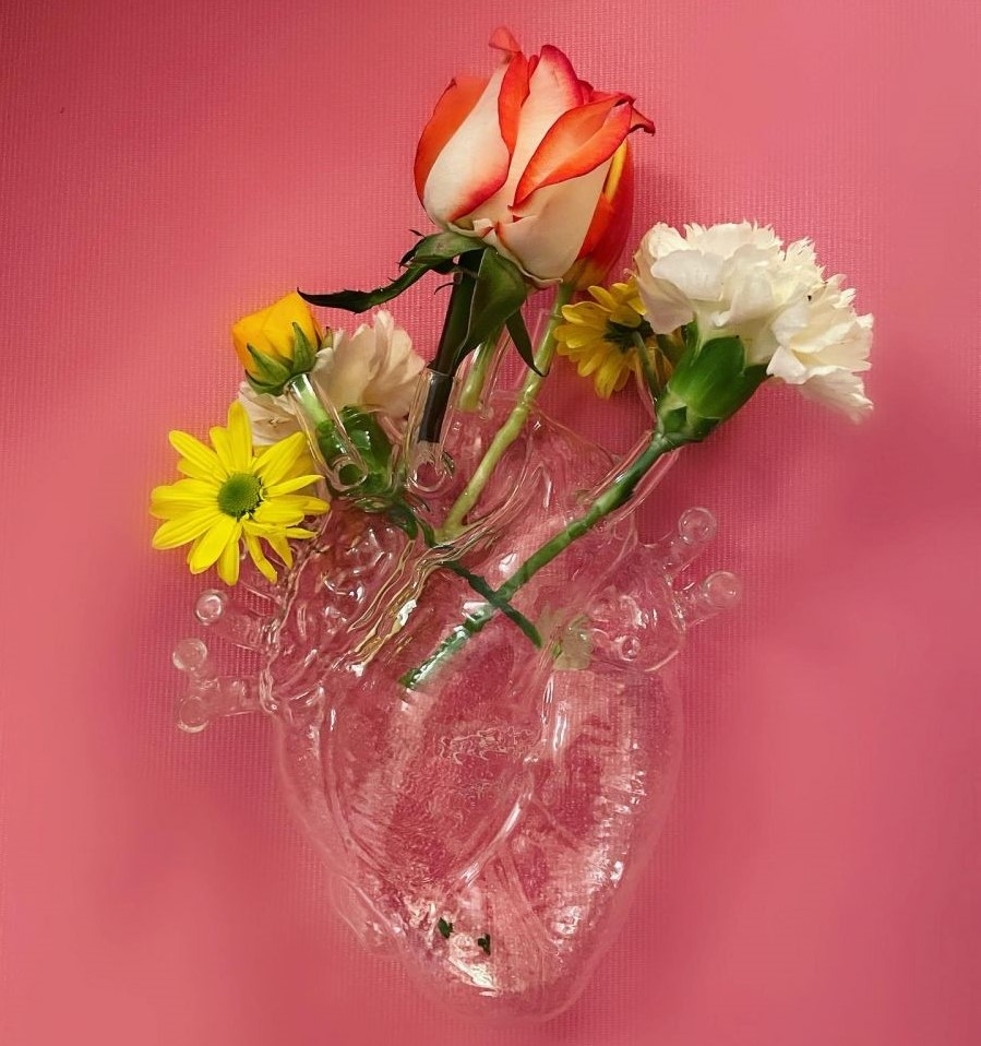 Seletti, 花瓶,花器,心臟造型花瓶,器官造型花器,造型花瓶,玻璃花瓶,玻璃花器,進口花瓶,進口花器,義大利花瓶,義大利花器,藝術花瓶,藝術花器