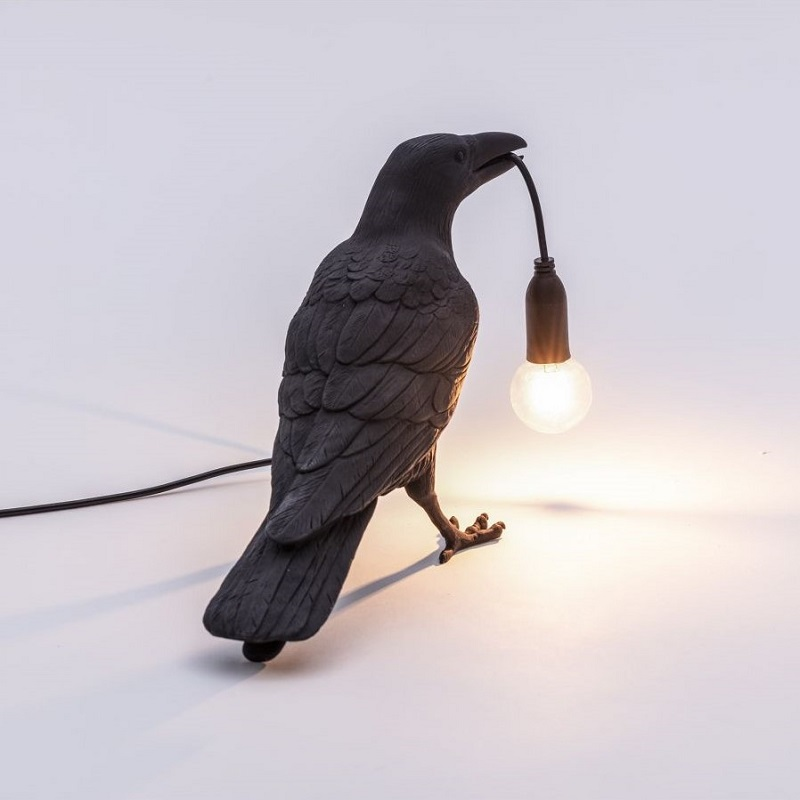 Seletti, 立燈,落地燈,裝飾燈,藝術燈飾,烏鴉造型燈,鳥類造型燈飾,進口燈飾,