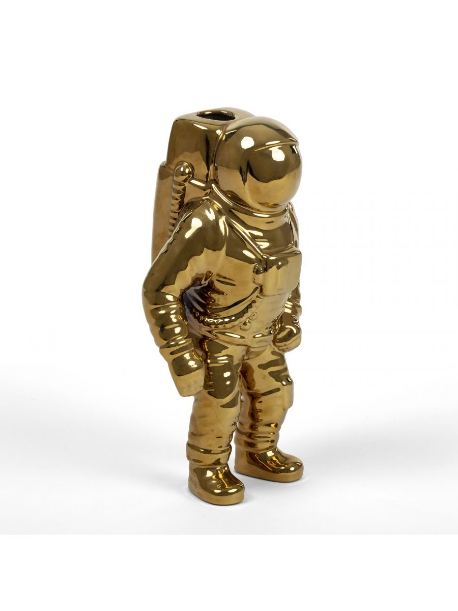 Seletti, 花瓶,花器,太空人花瓶,太空人花器,造型花器,造型花瓶,金色花瓶,金色花器,進口花瓶,進口花器,義大利花瓶,義大利花器,藝術花瓶,藝術花器