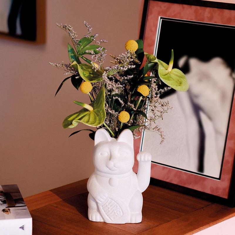 DOIY, 花器, 招財貓, 招財貓花器, 造型花器, 貓咪花器, 花瓶, 擺飾品, 居家佈置, 貓咪造型花器, 陶瓷花器,