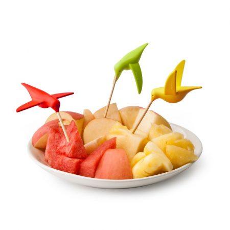 QUALY,果叉組,造型果叉,水果叉子,小叉子,造型叉子,蜂鳥果叉